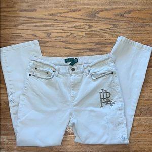 RALPH LAUREN 10P khaki jeans studded